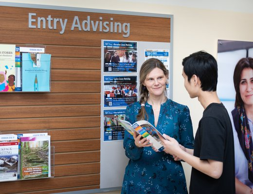 Entry advising staff and student